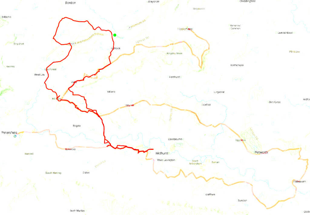 overlayed strava route onto the serpent trail route.