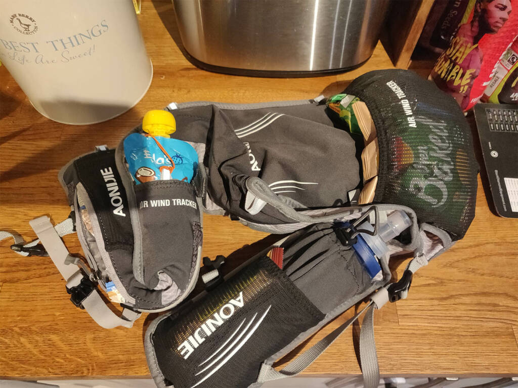 running 50 miles hydration pack